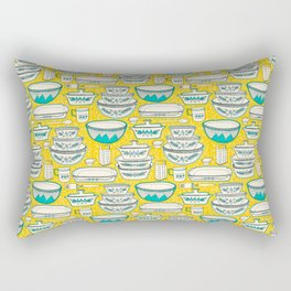 Florence's Retro Vintage Kitchen Rectangular Pillow