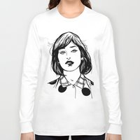 lip Long Sleeve T-shirts featuring Lip Bite by Richard Stuart MacFarlane