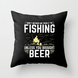Funny Fishing Fish Fisherman Sport Bass Carp Gift Throw Pillow