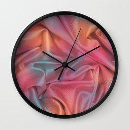 Folds of Elegant Color Pattern Wall Clock