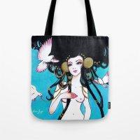 venus Tote Bags featuring Venus by Leilani Joy