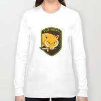 metal gear solid Long Sleeve T-shirts featuring Metal Gear Solid - Chibi Foxhound by feriowind