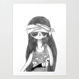 blind eyes Art Print