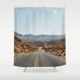 On the Desert Road Shower Curtain