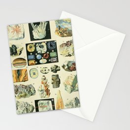 Vintage Minerals Chart Stationery Cards