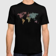 Paisley World Mens Fitted Tee 2X-LARGE Black