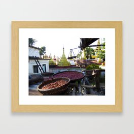 View from the Nunnery, Myanmar Framed Art Print
