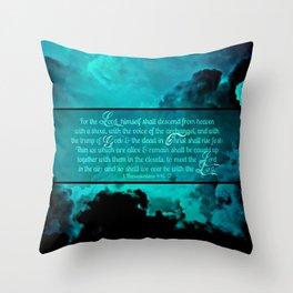 RETURN (1 Thessalonians 4:16-17) Throw Pillow