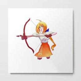 Anime Funny Manga Kawaii Fictional Character Gift Metal Print