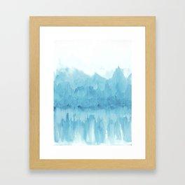 Ice Mountains Framed Art Print