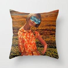Her Eyes Towards the Sky Throw Pillow