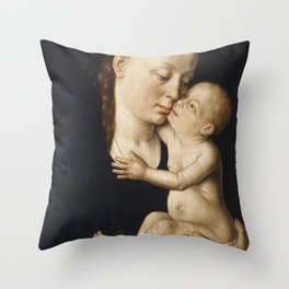 Virgin and Child (ca 1455-60) by Dieric Bouts Throw Pillow