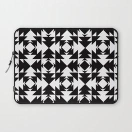 Modern Aztec Black & White Laptop Sleeve