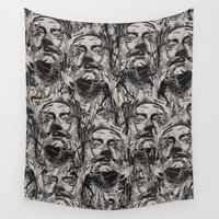 salvador dali Wall Tapestries featuring Dali by nicebleed