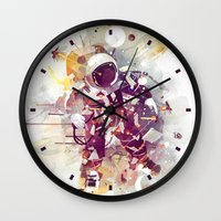 earthbound Wall Clocks featuring Summer Nights by Travis Clarke