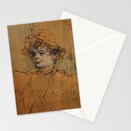 Henri de Toulouse-Lautrec - Mademoiselle Nys Stationery Cards