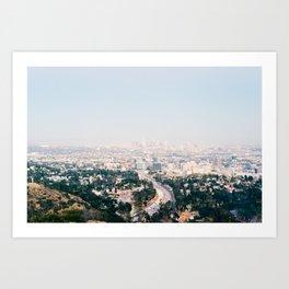 Pink LA Art Print