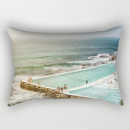 Bondi Icebergs Club   Bondi Beach Sydney Australia Ocean Coastal Travel Photography Rectangular Pillow