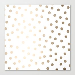 Simply Dots in White Gold Sands Canvas Print
