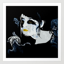 Dark Cupid Art Print