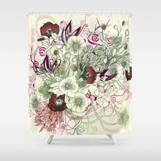 Zentangle Floral mix II Shower Curtain