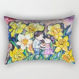 Daffodils in love Rectangular Pillow