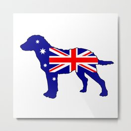 Australian Flag - Chesapeake Bay Retriever Metal Print
