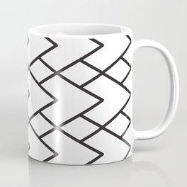 black and white geometric diamond pattern Coffee Mug