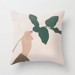 Holding the Branch Throw Pillow