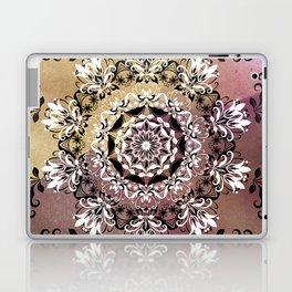 ELEGANT BLACK AND WHITE WATERCOLOR MANDALA Laptop & iPad Skin