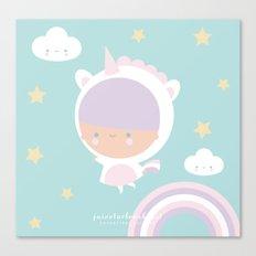 Be a unicorn Canvas Print