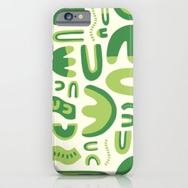 Abstract lettuce iPhone Case