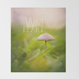 Magic Mushroom - Wild Heart Throw Blanket