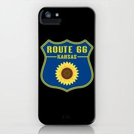 Route 66 Kansas iPhone Case