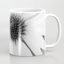 Beautiful Echinacea Flower Black and White Coffee Mug
