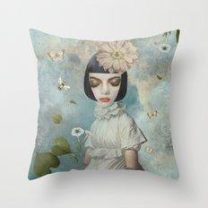 Bumble Bee Beauty Throw Pillow