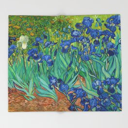 Irises by Vincent van Gogh (May 1889) Throw Blanket