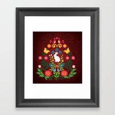 Bunny Of The Flowers Framed Art Print