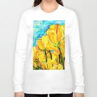 tulips Long Sleeve T-shirts featuring Tulips  by sladja