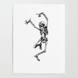 DANCING SKULL Poster