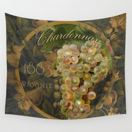Wines of France Chardonnay Wall Tapestry