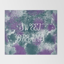 Sweet Dreams Paint Splatter Throw Blanket