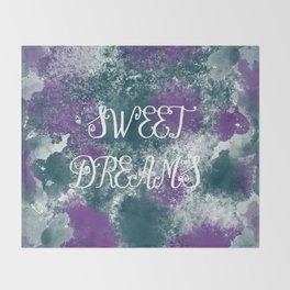 Sweet Dreams Paint Splatter Throw Blanket