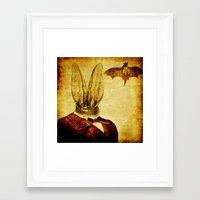 bat man Framed Art Prints featuring Bat-Man by Ganech joe