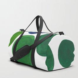 Mid Century Kusama Abstract Minimalist Colorful Pop Art Lime Green Blue Rainbow Ombre Gradient Duffle Bag