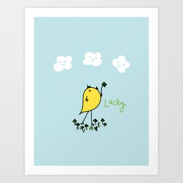 Chirp and Whistle Lucky Bird Art Print