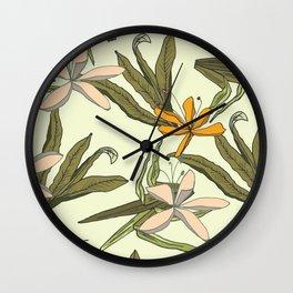 Hibiscus Flower Wall Clock