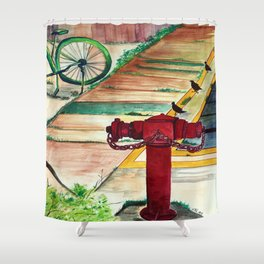 By the road side Shower Curtain