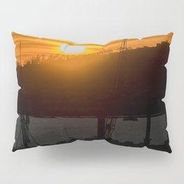Aerial View Sunset Scene of Montevideo Uruguay Pillow Sham