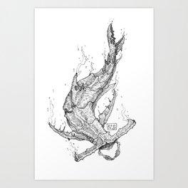 Crab - Shark Art Print